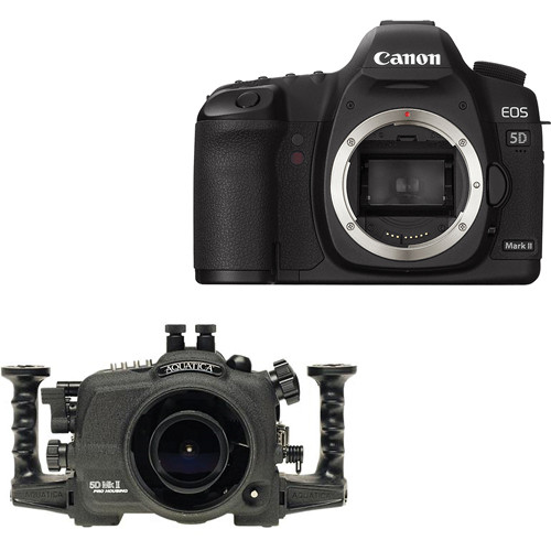 Aquatica Underwater Housing w/ Double Nikonos Bulkheads Kit with Canon EOS 5D Mark II Digital Camera