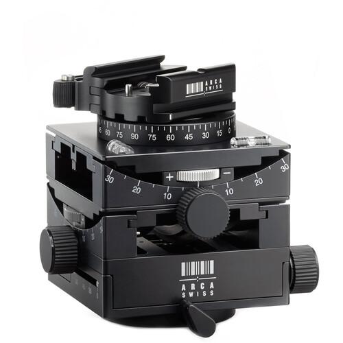 Arca-Swiss C1 Cube Geared Head w / Flip-Lock Quick Release & Leather Case