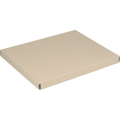 "Archival Methods 11.75 x 15 x 1.5"" Drop-Front Archival Storage Box (Tan)"