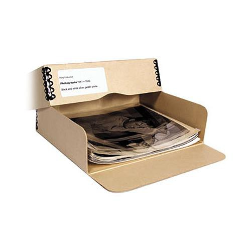 "Archival Methods Drop Front Archival Storage Box (8.5 x 10.5 x 3"", Tan)"