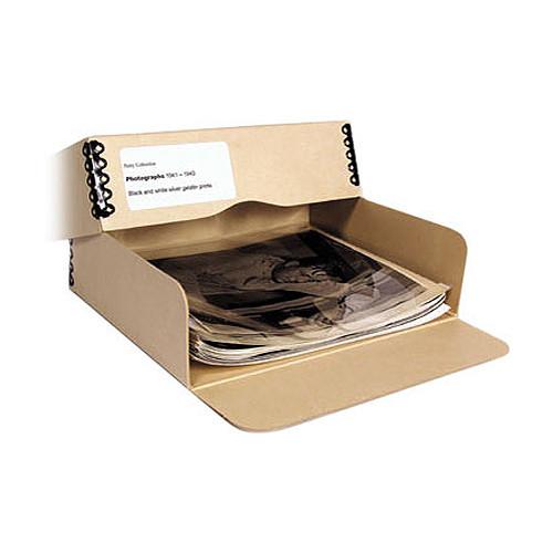 "Archival Methods 01-034 Drop Front Archival Storage Box (11.5 x 17.25 x 3"", Tan)"