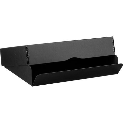 "Archival Methods 01-133 Drop Front Archival Storage Box (11.75 x 15 x 3"", Black)"