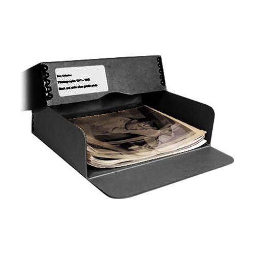 "Archival Methods 01-134 Drop Front Archival Storage Box (11.5 x 17.25 x 3"", Black)"