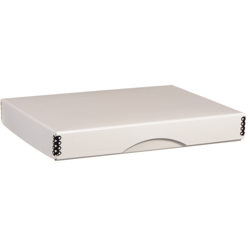 "Archival Methods Drop-Front Archival Storage Box (8.75 x 11.25 x 1.5"", White)"