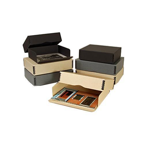 "Archival Methods 01-531 Drop Front Archival Storage Box (9.5 x 12.5 x 3"", Gray)"