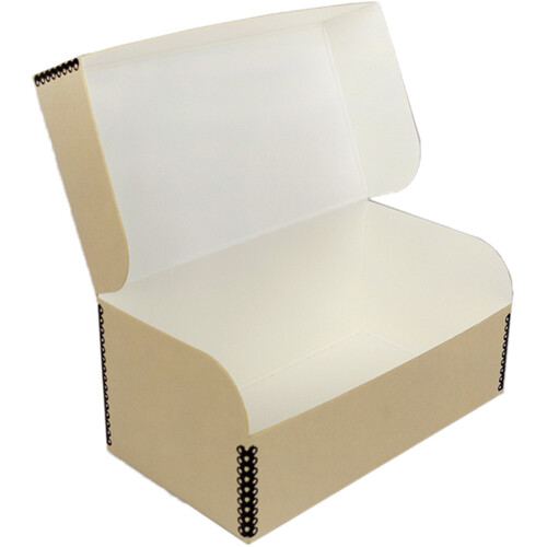 "Archival Methods Hinged Lid Box (10.25 x 7-5/8 x 5-5/8"", Tan)"