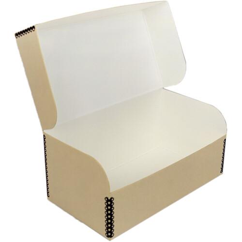 Archival Methods Hinged Lid Box (7.6 x 5.6 x 5.4'', Tan)