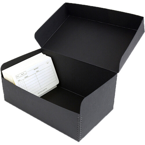 Archival Methods Hinged Lid Box (12.5 x 7.5 x 5.4'', Black)