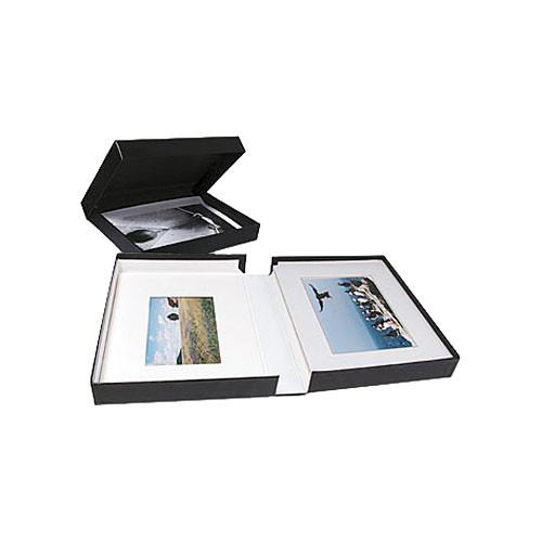 """Archival Methods Onyx Portfolio Box - 17.25 x 22.25 x 2"""" - Black Buckram/White Lining"""