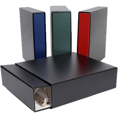"""Archival Methods Binder Slip Case Set (1.5"""" D-Ring, Red Binder / Black Slip Case)"""