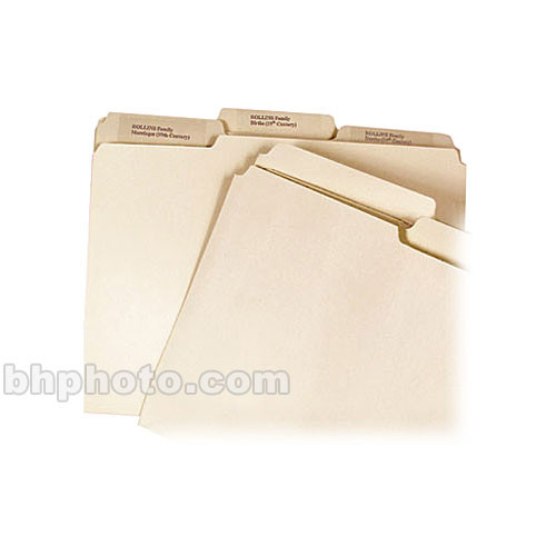 Archival Methods File Folders (Legal Size , Third Tab, 50 Pack)