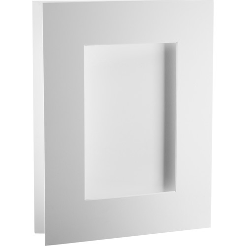 """Archival Methods Bright White Pre-Cut Exhibition Mat (8 x 10"""" Board for 4 x 6"""" Print, 5-Pack)"""
