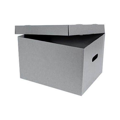 "Archival Methods Record Storage Box - 15.5 x 12.75 x 10"" - Gray"