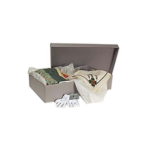 "Archival Methods 59-3018 Textile Storage Box (28.75 x 17 x 6"", 5 Pack, Gray)"