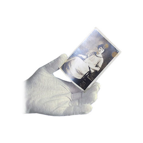 Archival Methods 61-555-S White Nylon Gloves (Small, 12 Pairs)