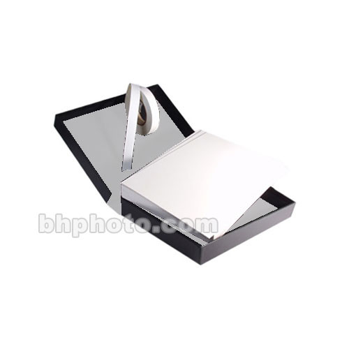 "Archival Methods 9x12x2"" Onyx Portfolio and Board Combo - White Lining with Bright White  Museum Board"