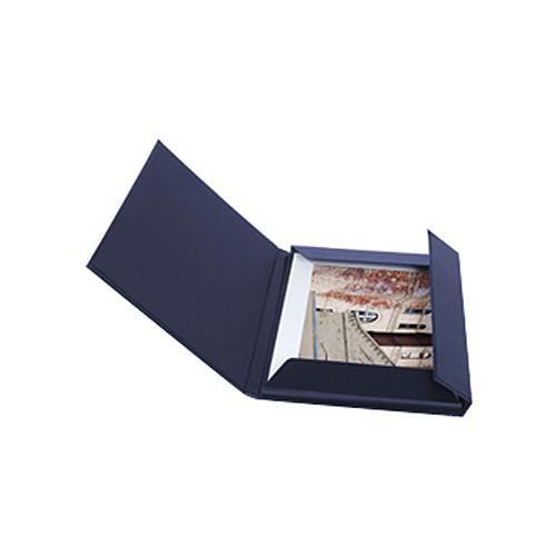 "Archival Methods 17.25 x 22.25"" Leather Print Folio (Navy Blue)"