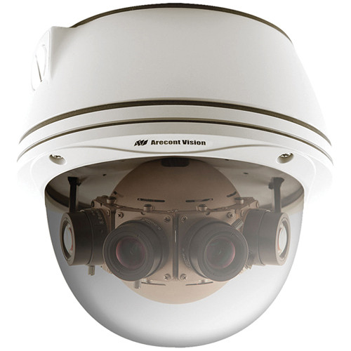 Arecont Vision SurroundVideo Series 20MP Outdoor Dome Camera with 4 Sensors and Heater