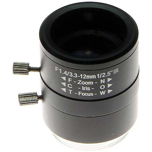 Arecont Vision MPL33-12 3.3 to 12mm Varifocal Lens