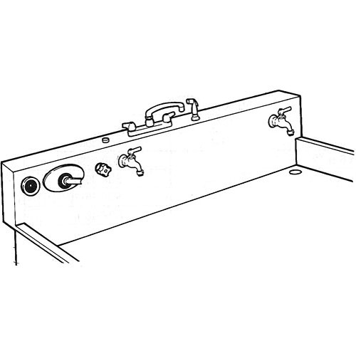 """Arkay PP3 Factory Installed Plumbing Package for 60"""" Premium/Standard Stainless Steel and Fiberglass Sinks"""