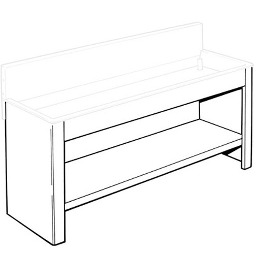 """Arkay Steel Stand and Shelf for 24x72"""" Economy Sink"""