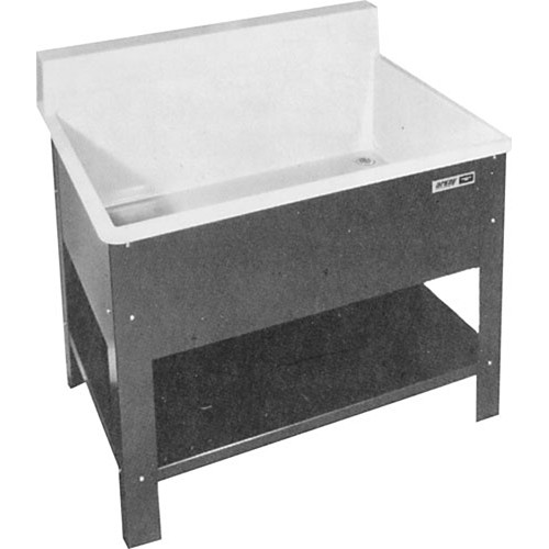 Arkay Fiberglass Rack Cleaning Deep Sink