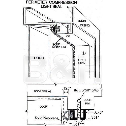 "Arkay Light Tight Seal Kit for 24"" Darkroom Door"