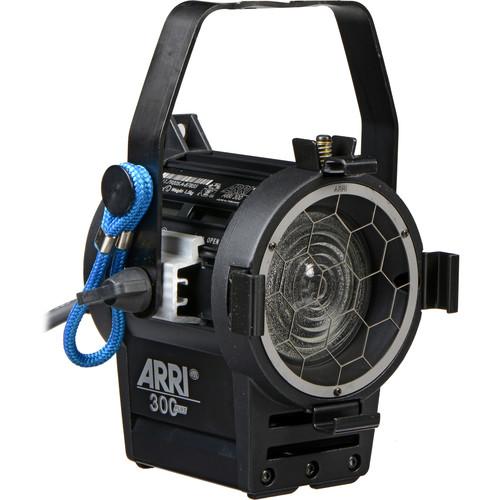 ARRI PLUS 300 Watt Fresnel, Hanging, Manual Control - Black (120-240VAC)
