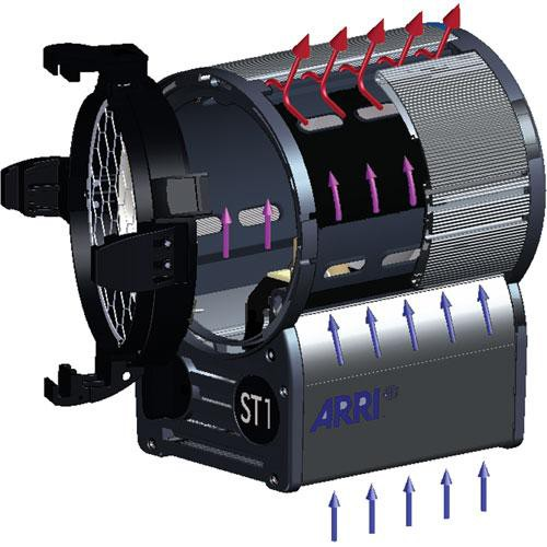 ARRI ST1 Studio 1Kw Fresnel, Stand Mount - Black (120-230VAC)