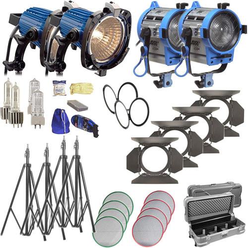Arri ARRILITE / Fresnel Tungsten 4 Light Combo Kit (220-240V AC)