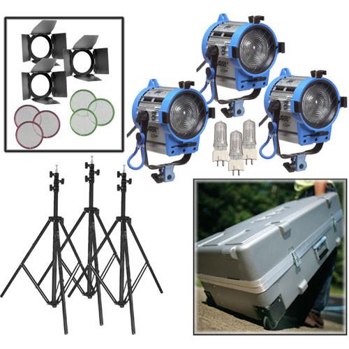 Arri 650W Fresnel Compact 3-Light Kit