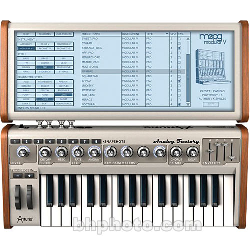 Arturia Analog Factory Virtual Software Synthesizer - Educational Discount