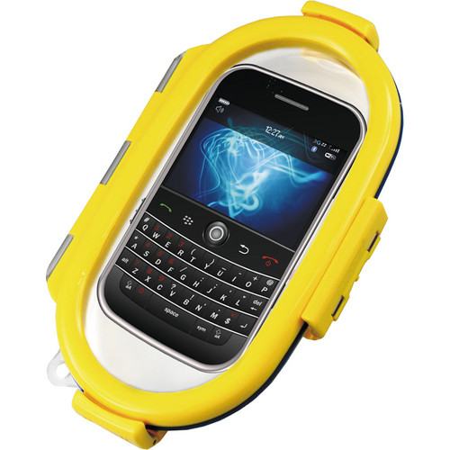Aryca Whirl Waterproof Push Button Phone Case (Yellow)