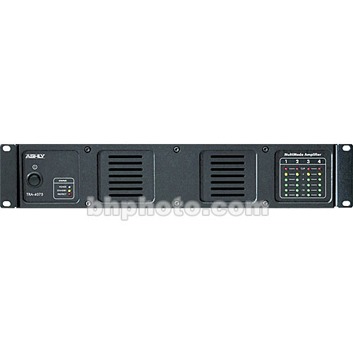 Ashly TRA-4075 Rackmount 4-Channel Power Amplifier with Transformer