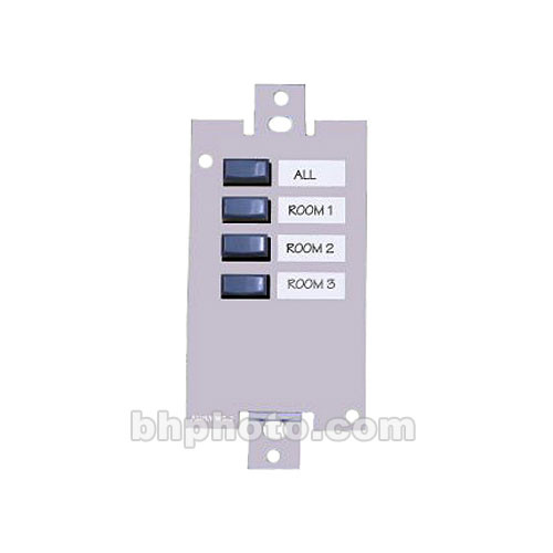 Ashly WR-2 - Wall-Mount 4-Position Preset Recall Remote for 24.24M