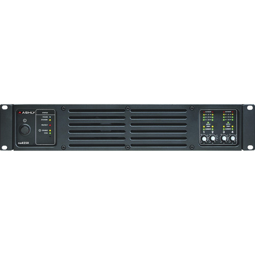 Ashly ne4250 4-Channel Network Enabled Amplifier with ProTea DSP (4 x 250W @ 4 Ohms)