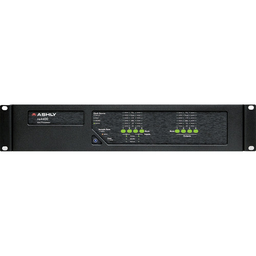 Ashly ne4400MS - Network Enabled Digital Signal Processor with Mic Input, AES Output, and CobraNet Compatibility