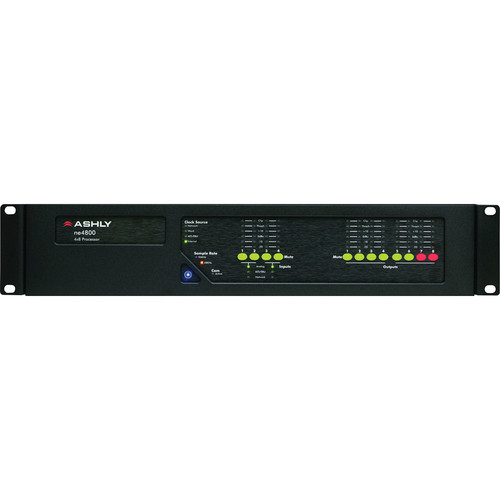 Ashly ne4800MS - Network Enabled Digital Signal Processor with Mic Input and AES Output Options