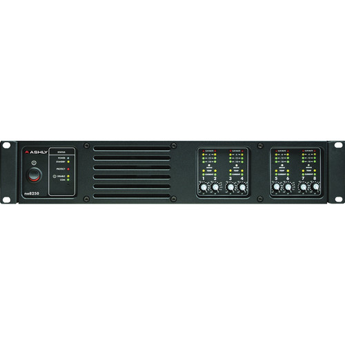 Ashly ne8250 8-Channel Network Enabled Amplifier with Protea DSP (8 x 250W @ 4 Ohms)