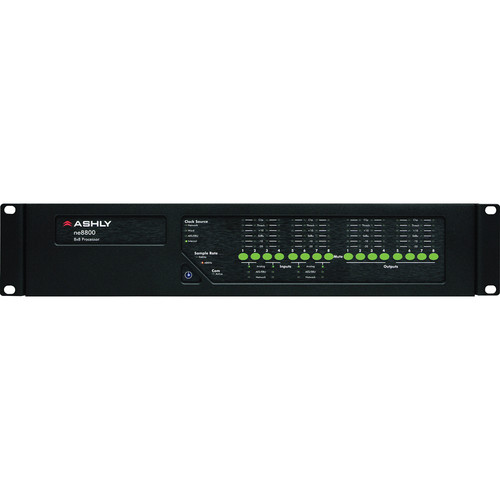 Ashly ne8800MS - Network Enabled Digital Signal Processor with MIc Input, AES Output, and CobraNet Compatibility
