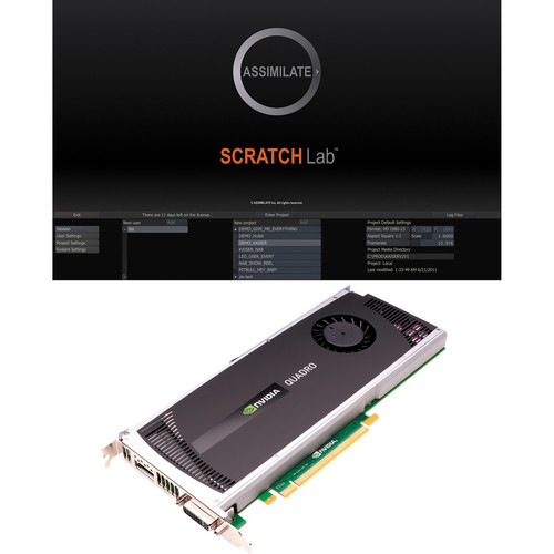Assimilate SCRATCH Lab with 1-Year Support and nVIDIA Quadro 4000 Bundle for Mac