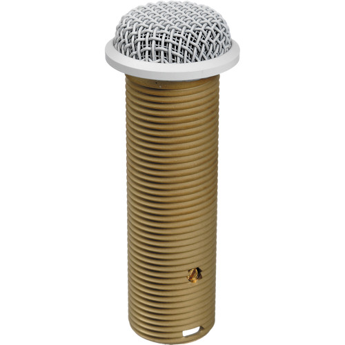 Astatic 202RW Omnidirectional Electret Condenser Button Style Boundary Microphone (White)