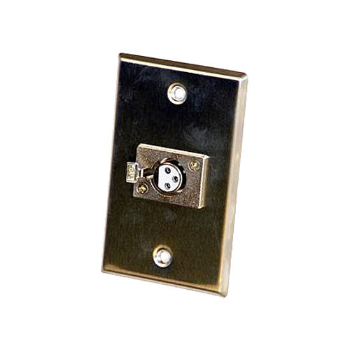 Astatic 40-347 Single 3-Pin XLR  Female Wall Plate