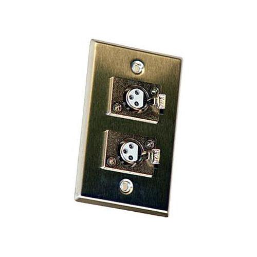 Astatic 40-348 Double 3-Pin XLR  Female Wall Plate