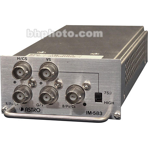 Astro Design Inc IM-583 Input Module - for SC-2055, Analog Video, RGBHV, YPbPr