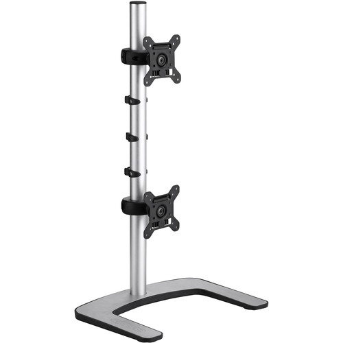 Atdec Visidec VFS-DV Freestanding Vertical Mount for Dual Monitors (Silver)
