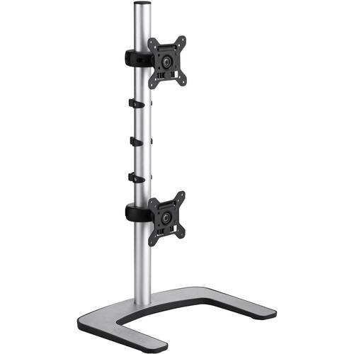 Atdec Visidec VFS-DV Freestanding Vertical Mount for Dual Monitors (Silver)