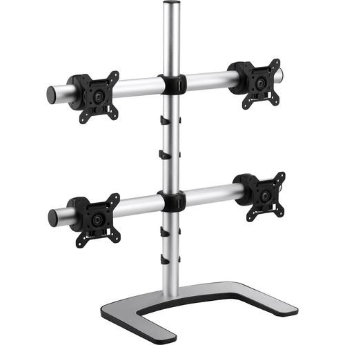 Atdec Visidec VFS-Q Freestanding Mount for Four Monitors (Silver)