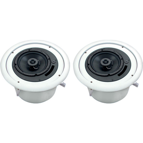 Atlas Sound 70W Ceiling Mounted Sound System for A/V and Conference Rooms (4 Speakers)
