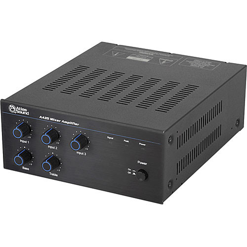 Atlas Sound AA35 - 35W Three-Channel Mixer/Amplifier